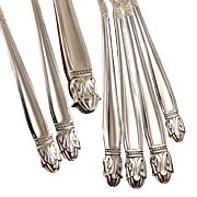 Holmes & Edwards Danish Princess Art Deco Dinner Place Settings Vintage 1938 Silver Plate Silverware Flatware