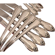 1847 Rogers REMEMBRANCE Silverware Set Vintage 1948 Silver Plate Flatware Dinner Service for 4, 8, or 12