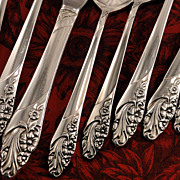 Oneida Community EVENING STAR Vintage 1950 Silver Plate Flatware Silverware Set Dinner Service for 4 or 8