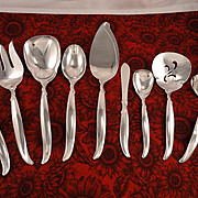 1847 Rogers FLAIR Serving Set Vintage 1956 Silver Plate Flatware