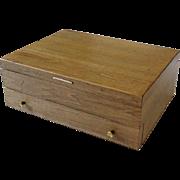 Vintage McGraw Silverware Flatware Storage Box Chest With Drawer Anti Tarnish Silverplate Sterling Silver Case