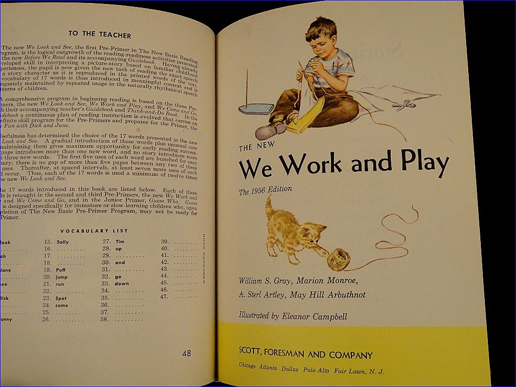 The New Pre-Primers - Teachers Edition - The Dick and Jane Books - 1951