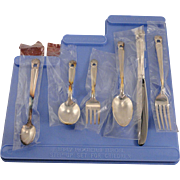 6 Piece Unused Childrens BOY Step-Up Silverware Flatware Set Vintage 1847 Rogers Bros. ETERNALLY YOURS 1941 Silver Plate