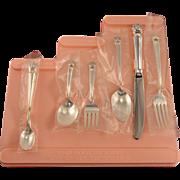 6 Piece Unused Childrens Girl Step-Up Silverware Flatware Set Vintage 1847 Rogers Bros. ETERNALLY YOURS 1941 Silver Plate