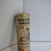 Early 1900's Humpheys Homeopathic No. 23 Enlarged Gland Medicine UNOPENED