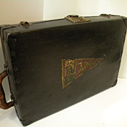 Antique Early 1900's Metal Suitcase, Luggage, Salesman Sample Case