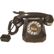 1940's  Black and Chrome Telephone Monophone - Automatic Electric Company Phone  - Strowger PAX