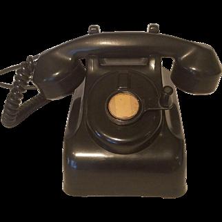 1940's Black Hand Crank Phone  Leich  Model 901C