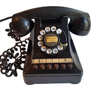 1940's Black Multi Line Business Phone - Western Electric 460