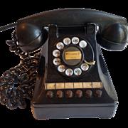 1940's Black Multi Line Business Phone - Western Electric 460