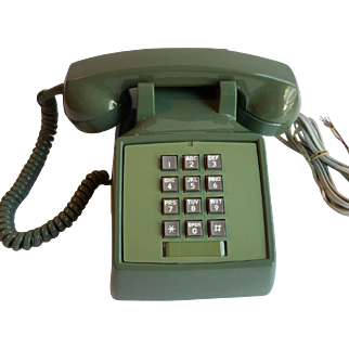 1980 Moss Green Push Button Phone Stromberg Carslon Model 2500