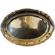 19th Century German 800 Fine Silver Meat Platter by J.C. Osthues, Munster