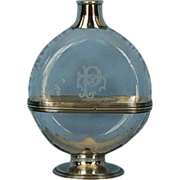 French Silver-mounted Glass Flask, Circa 1875