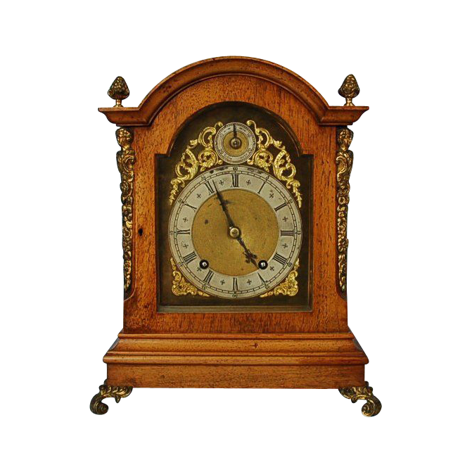 Late 19th Century German Mahogany Bracket Clock by Winterhalder & Hofmier
