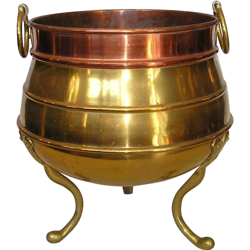 19th Century English Brass & Copper Jardinière