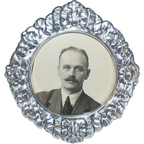 Russian Grand Duchess Olga Alexandrovna's Original Photograph of Husband Colonel Nikolai Kulikovsky in a later Art Nouveau-style Frame