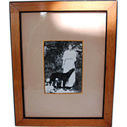 Original Pre-Revolution Framed Photograph of Russian Grand Duchess Olga Alexandrovna and Dogs