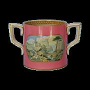 Mid-19th Century English Pratt Ware Two-handled Loving Cup