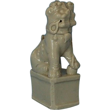 Early 18th Century Chinese Porcelain Blanc-de-Chine Foo Dog Incense Burner