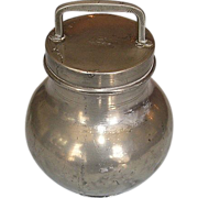 Late 19th Century French Pewter Milk Container