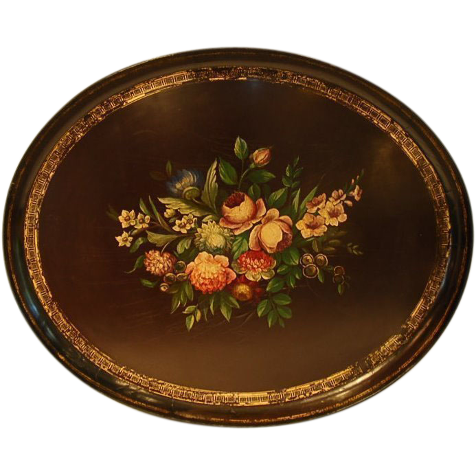 19th Century English Papier Maché Tray