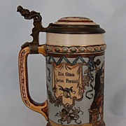 19th Century Signed Mettlach Stein #1932