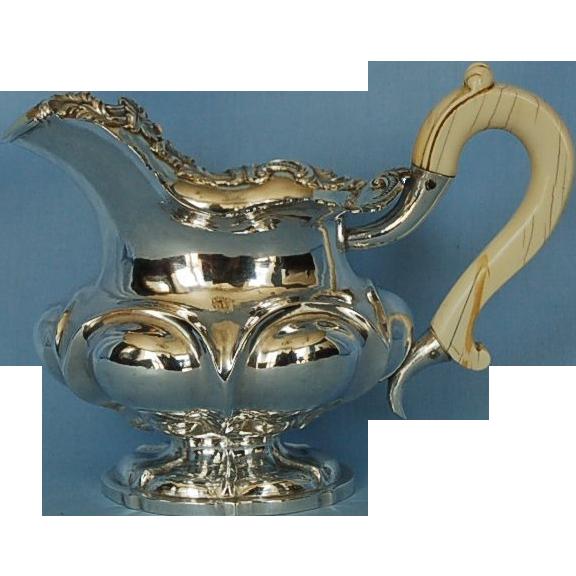 Mid-19th Century Russian 875 Fine Silver Milk Jug