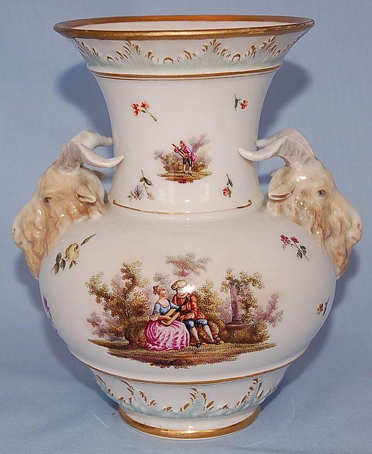mid 19th century berlin kpm porcelain vase sold on ruby lane. Black Bedroom Furniture Sets. Home Design Ideas