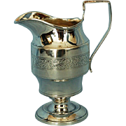Early 19th Century English Sterling Silver Creamer by Nathaniel Smith & Co.