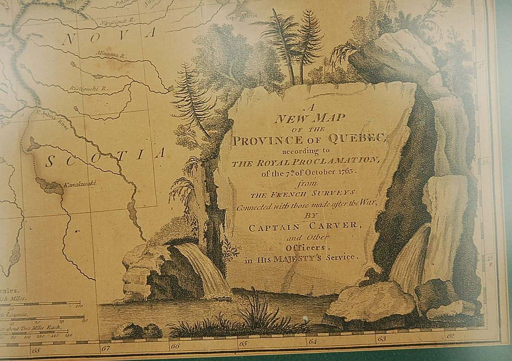 18th Century English Map of Quebec from Surveys by Captain Carver & Officers in His Majesty's Service