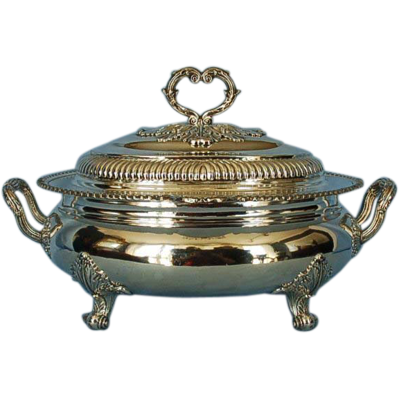 Early 19th Century George III Old Sheffield Plate Large Soup Tureen & Cover