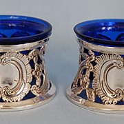 Early 20th Century Pair of Irish Sterling Silver Dish Ring or  Potato Ring-shaped Open Salt Cellars by Johnson Ltd.
