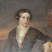 19th Century Signed Oil on Canvas Portrait of a Woman
