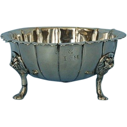 18th Century Irish Sterling Silver Bowl by William Townsend