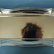 Mid-20th Century Hungarian 800 Silver Hand-hammered Tray by LM
