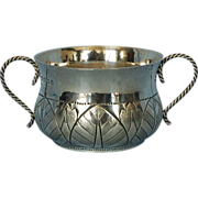 Early 20th Century English Sterling Silver Two-handled Porringer by Edward Barnard Sons