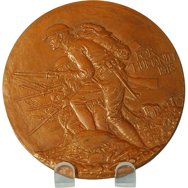 Vintage American Bronze Medal Designed by James Earle Fraser