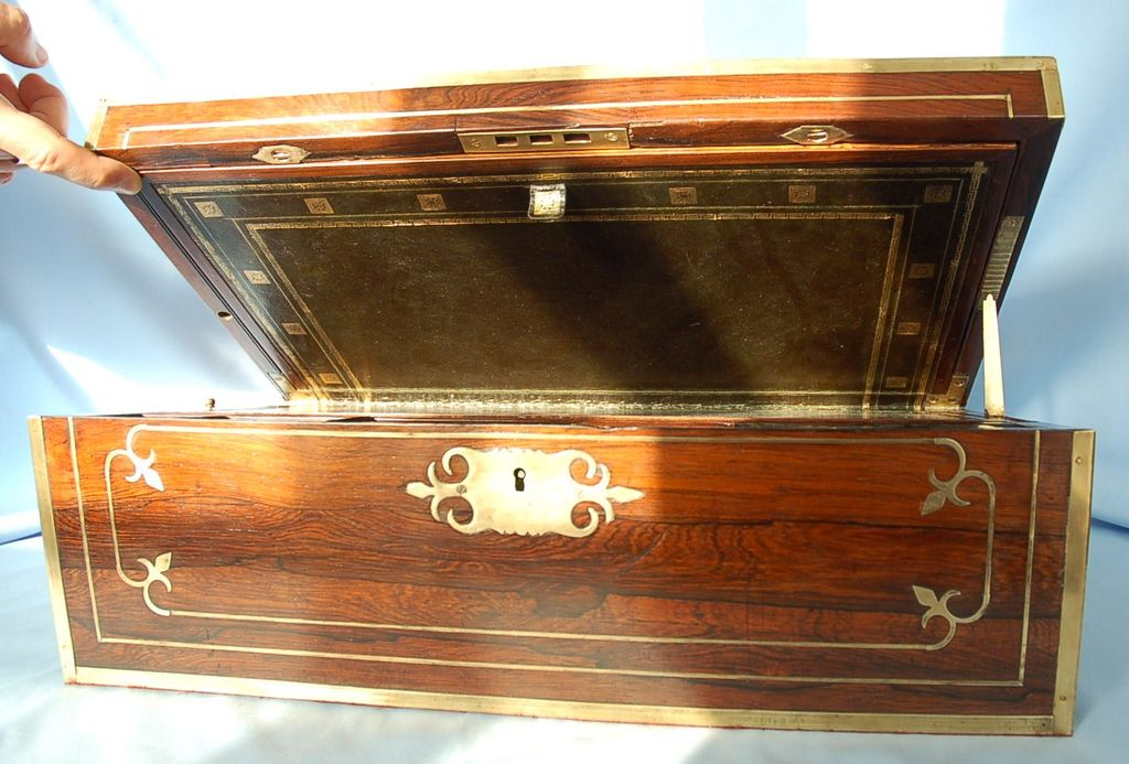 Early 19th Century English Brass-bound Rosewood Writing Slope