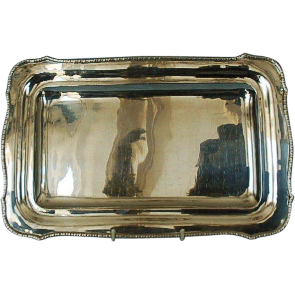 19th Century Hungarian 800 Fine Silver Tray