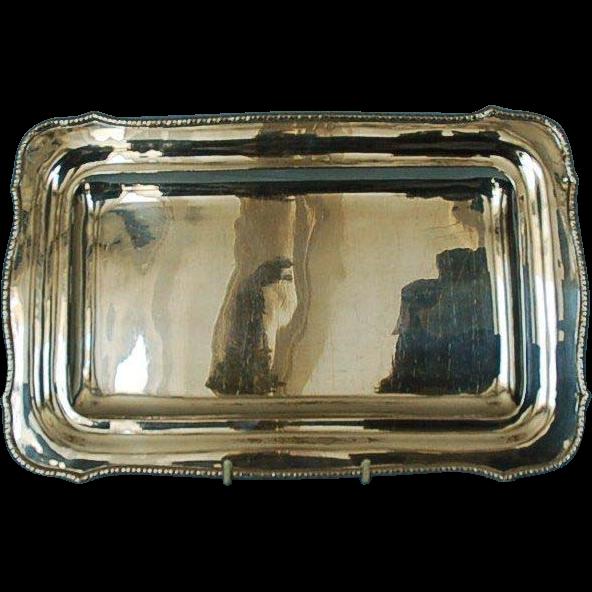 19th Century Hungarian 800 Fine Silver Tray