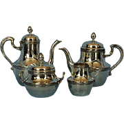 19th Century French 950 Silver Tȇte à Tȇte Tea & Coffee Set