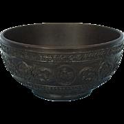 Three Vintage Wedgwood Black Basalt Bowls