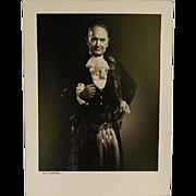 Vintage Signed Karsh Photograph of Scottish Gentleman