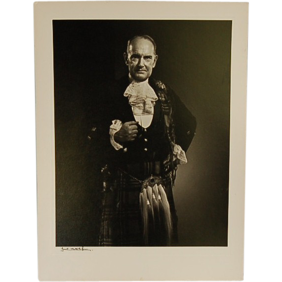 Vintage Signed Karsh Photograph of Scottish Gentleman