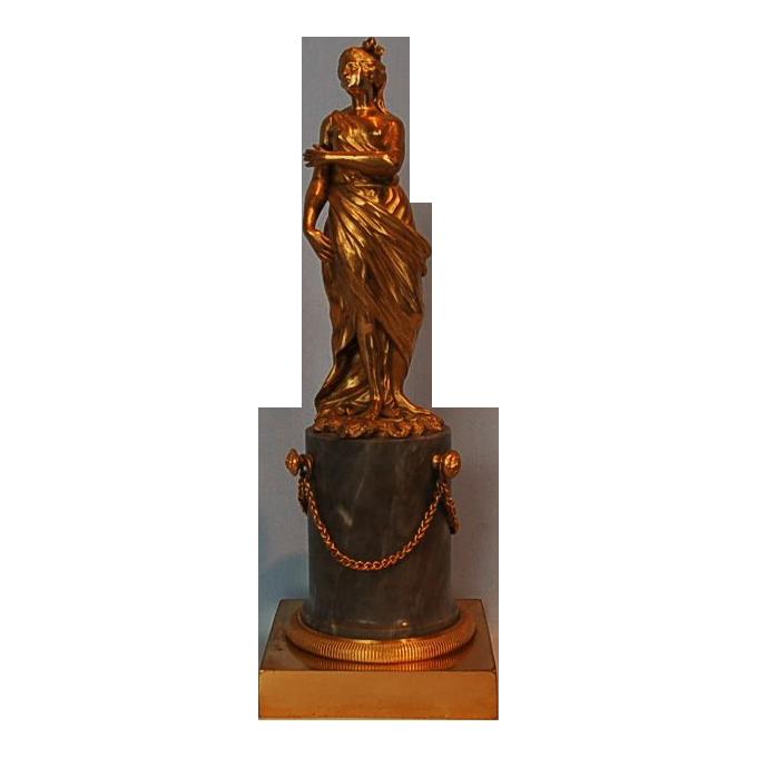 18th Century French Louis XVI Gilt Bronze Statue