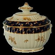 18th Century Chamberlains Worcester Porcelain Sugar Bowl