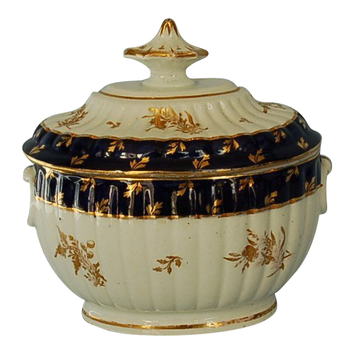 18th Century Chamberlains Worcester Porcelain Sugar Bowl