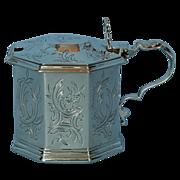 19th Century English Sterling Silver Mustard Pot by George John Richards
