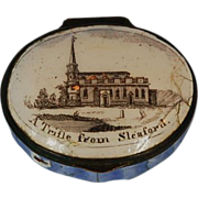 18th Century English Bilston Battersea Enamel Patch Box