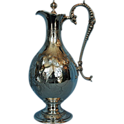 19th Century English Silverplate Claret Ewer